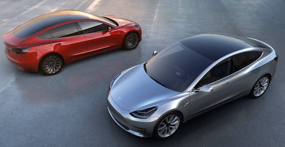 The Tesla Model 3 could end up being the most successful electric vehicle in history. (If sales projections hold true.) Image: Tesla