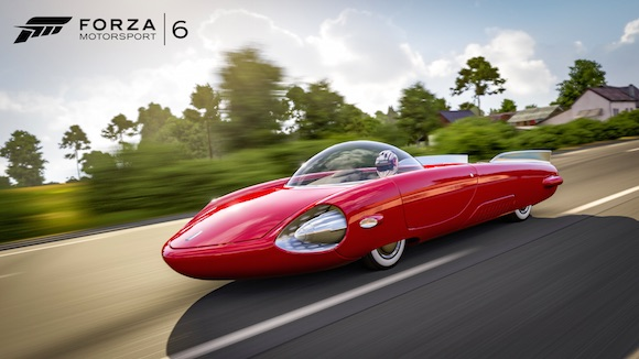 The Cryslus 69 from Fallout 4 is driveable in Forza 6.
