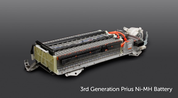 A 3rd Generation Toyota Prius Ni-MH battery. (Image: Toyota)